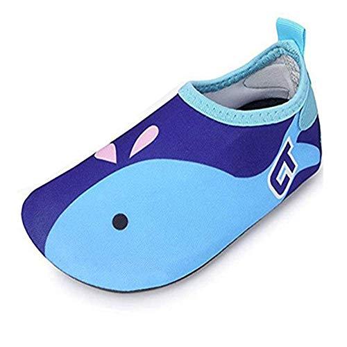 SITAILE Aquaschuhe Barfuß Schuhe Schwimmschuhe Badeschuhe Wasserschuhe Surfschuhe Sportschuhe für Kinder,A-dunkelblau,EU24/25