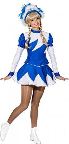 O9889-44 blau-weiß Damen de Luxe Mariechenkostüm Gr.44