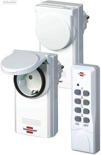 Price comparison product image 'Brennenstuhl 1507030Wireless Control Set Comfort Line RC CE10201IP44(3Pieces)