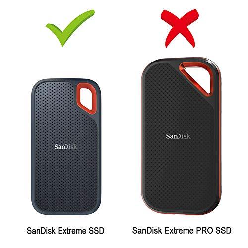 500 GB Custodia per SanDisk Extreme PRO khanka Eva Borsa da Viaggio Custodia Caso Scatola per SanDisk Extreme PRO SSD Portatile 250 GB 2 TB 1 TB
