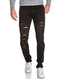 BLZ jeans - Jeans homme noir déchiré tendance