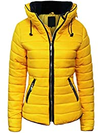 Veste doudoune femme jaune
