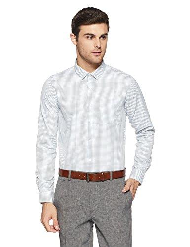 Excalibur EX Men's Solid Regular Fit Formal Shirt (276225180 White 39)