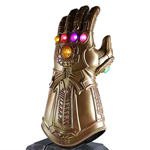QWEASZER Rächer: Infinity War Thanos Cosplay Infinity Handschuh, Marvel Heroes Infinity Gauntlet Deluxe Edition für Karneval und Halloween - Man Adult - - Avengers 2 Deluxe Hulk Kostüm