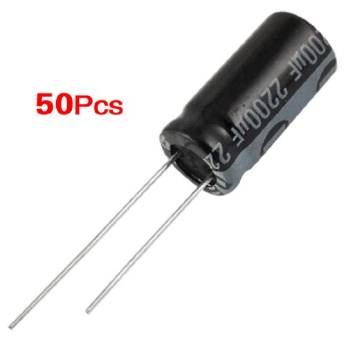 REFURBISHHOUSE 50 Stk.ue6V 2200uF Elektrolytkondensatoren Kondensatorue10 x 20mm -