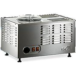 Musso Pola Stella 5030 Sorbetière Électrique 1.5L Fabriquée en Italie Inox Machine à Glace Refrigerante Pour Crème Glacée, Sorbet et Yaourt Glacé