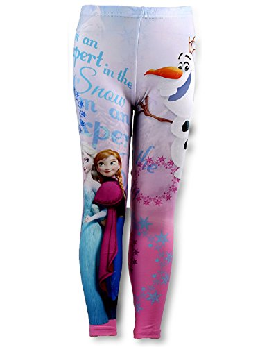 Disney frozen - leggings/collant per bambine foderati in pile, età 3, 4, 5, 6, 7, 8 anni multi 5 anni