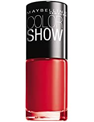 Maybelline New York Make-Up Nailpolish Color Show Nagellack Power Red / Ultra glänzender Farblack in leuchtendem Rot, 1 x 7 ml