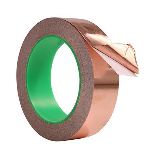 Cestval Cinta de Cobre Cinta de hoja de cobre con un conductor adhesivo Conductividad doble EMI Cinta Lámina de cobre blindaje cinta