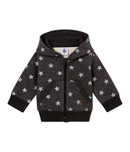 Petit Bateau Petit Bateau Baby-Jungen Kapuzenpullover Sweat-Shirt A Capuche_4473501, Mehrfarbig (City/Gris 01), 62 (Herstellergröße: 3M/60cm)