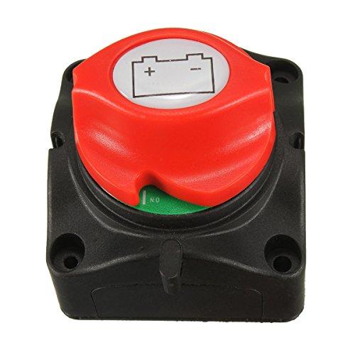 nuzamas Marine herausnehmbare Batterie Trennschalter Cut Off Power Schalter auf off 12V/24V für Auto 4WD RV ATV Fahrzeuge Boote