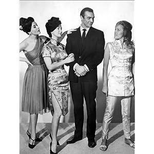 Posterlounge Acrylglasbild 30 x 40 cm: Eunice Gayson, Zena Marshall, Sean Connery, Ursula Andress von Everett Collection – Wandbild, Acryl Glasbild, Druck auf Acryl Glas Bild