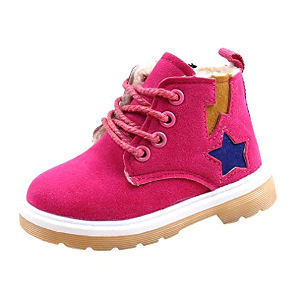 Mode Jungen Mädchen Martin Sneaker Stiefel Warme Kinder Freizeitschuhe Schnee Schuhe Lace-up Kurze Stiefeletten