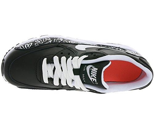 NIKE Air Max 90 Print LTR GS Schuhe Kinder Sneaker Turnschuhe Schwarz 844616 001 Schwarz