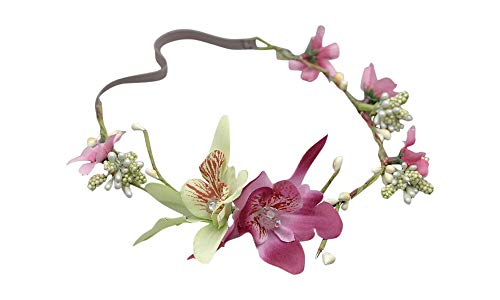 couronne de fleurs souple avec élastique