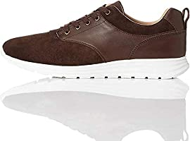 Amazon-Marke: find. Perforated Suede Hybrid Herren Sneaker
