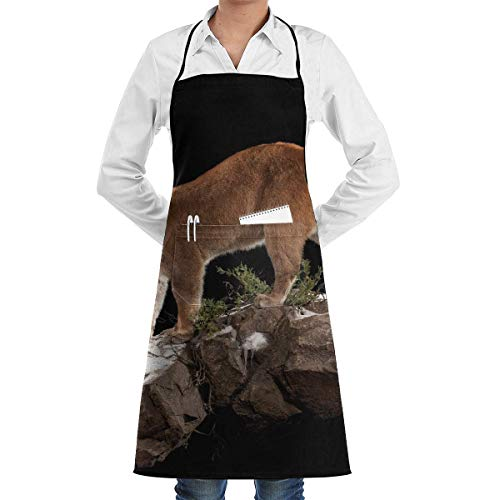 aprons Mountain Lion Aprons Bib for Mens Womens BBQ String Adjustable Adult Kitchen Waiter Schürzen mit - Womens Lion Kostüm