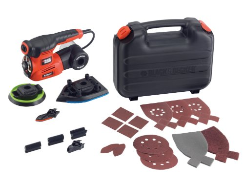 Black & Decker KA280 240V Autoselect 4-in-1 Multi Schleifer Plus 19 Zubehör