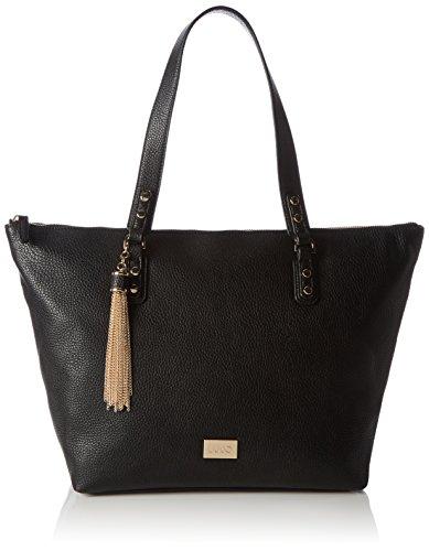 Liu Jo Damen Minorca Shopper Tote, 18 x 29 x 30 cm Schwarz (Black)