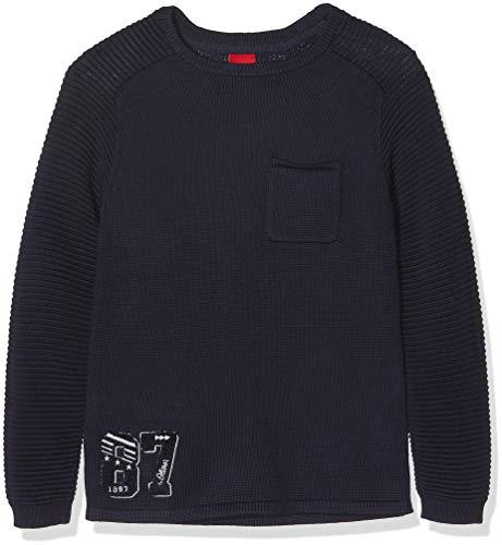 s.Oliver Jungen 63.809.61.8071 Pullover, Blau (Dark Blue 5876), 128