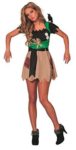 -A bunt Damen Vogelscheuchen Kleid Strohpuppen Kostüm Gärtnerin Gr.38 ()