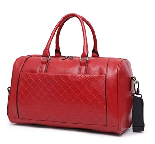 Mkangheting Handbag Large Capacity Travel Bag Shoulder Handbags Designer Male Messenger Baggage Bag Casual Crossbody Travel Bags Large Red