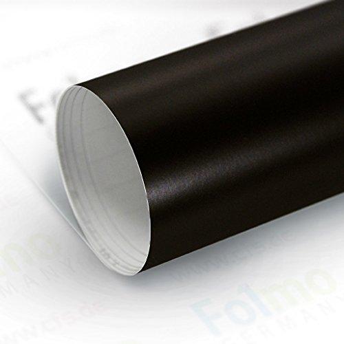 33,04€/m² Auto Folie Streifen Glanz, Matt, Carbonfolie mit Luftkanal (Matt Schwarz 50x121cm)