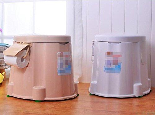 TMZLL Höhe der mobilen Toilette WC ältere Frauen Patienten mit Erwachsenen Toilette Stuhl leicht tragbare Toilette , Khaki (Leichte, Tragbare Stühle)