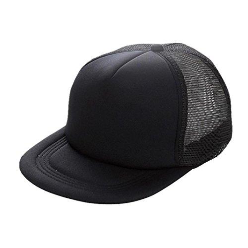 Bovake Unisex Mesh Baseball Cap Hut Blank Visor Hut Verstellbar  (Black) (Mlb-mesh-visor)