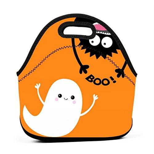 Lunch-Taschen für Frauen, Halloween, fliegender Geist, Monster und Mädchen, wiederverwendbar, Snack-Taschen, süßes Kleinkind-Lunchtasche, Taschen, 3D-Druck, kleine Handtaschen
