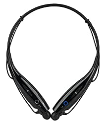 Defloc HBS-730 Bluetooth Stereo Headset HBS 730 Wireless Bluetooth Mobile Phone Headphone Earpod Sport Earphone with call functions (Black) for Lenovo Phab Plus