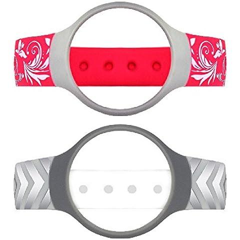 AFUNTA 2 Pcs Misfit Band Hollow reemplazo pulsera Deporte Actividad Correa para la muñeca TPU Band para Fitness Misfit Flash (rojo +