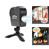12 Movie Show Window Projektor Mobile Spotlight Indoor Outdoor-Fenster-Projektionsfläche Halloween Weihnachtsdekoration 110V-220V