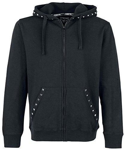 Black Premium by EMP Dark Studded Hoodie Sweat à capuche zippé noir Noir