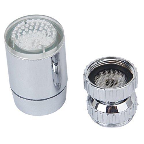 3Farbwechsel Temperatur Sensor Spray LED Wasser Wasserhahn Wasserhahn mit Adapter -