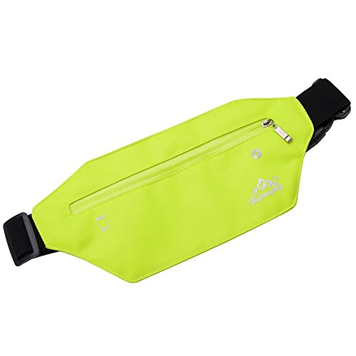 squarex Waistpacks, Outdoor Sport Neutral Pure Color wasserabweisend Nylon Messenger Brust Tasche, Damen, grün, AS Show (Outdoor-wand-kunst-szene)