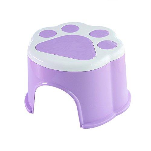 Dana Carrie Le pied en plastique anti-dérapant accueil tabouret tabouret rond d'épaisseur à d'autres bancs de chaussures pour enfants bain mise en œuvre de la marche pied du bébé sur un tabouret bas ,20*18*14cm 5PCS violet