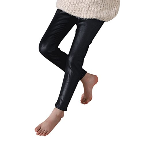Beinwärmer Winter Leichte Leder Synthetische Heiße dünnsten Winter mit der Arbeithose Velours, schwarz, 120cm (Leder Bebe)