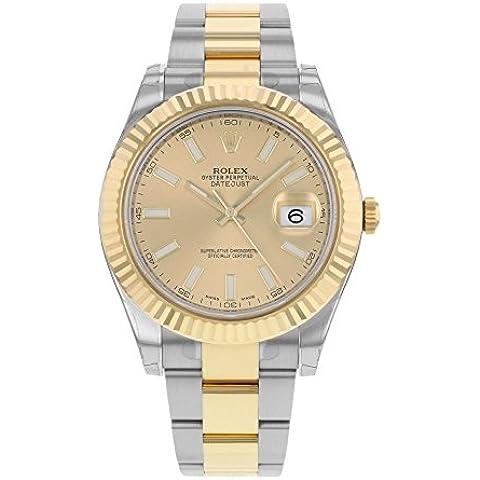 Nuovo Rolex Datejust II in acciaio inox e 18K Giallo Oro Mens Orologio 116333Chio by Rolex