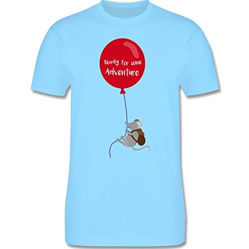 Sonstige Tiere - Ready for some Adventure - Herren Premium T-Shirt Hellblau