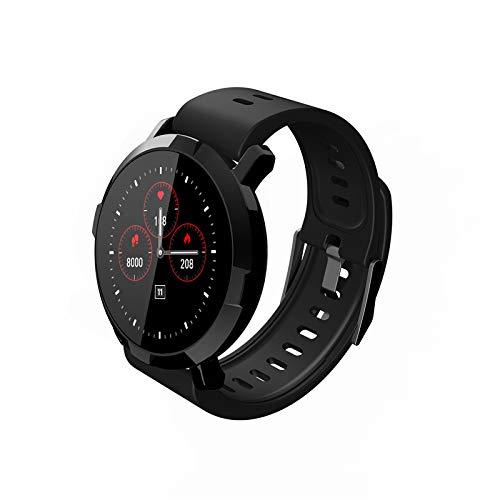 ZLOPV Intelligente Uhr Smart Bluetooth Watch Pulsmesser Musiksteuerung Sport Gym Wear wasserdichte Smartwatch verbinden iOS Android, Schwarz