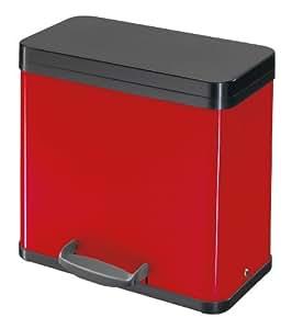 Hailo 0630-210 Tret-Abfalltrenner Trento öko 19 + 11, rot