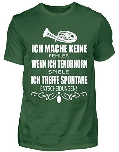 Tenorhorn Tshirt Musiker Orchester Blasmusik Zubehör Festival Musikanten Blasorchester - Herren Shirt -XL-Dunkelgrün