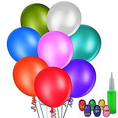 Idea Regalo - 100 Pezzi Palloncini, MOOKLIN Palloncini rotondi Palloncino in Lattice Palloncini colorati per partito Compleanno nozze o decorazione natalizia