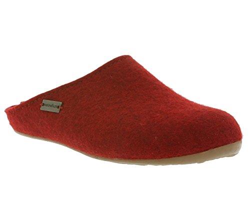 Unisex erwachsene Haflinger Everest Pantoffeln Fundus Rot Sad6wxZqd