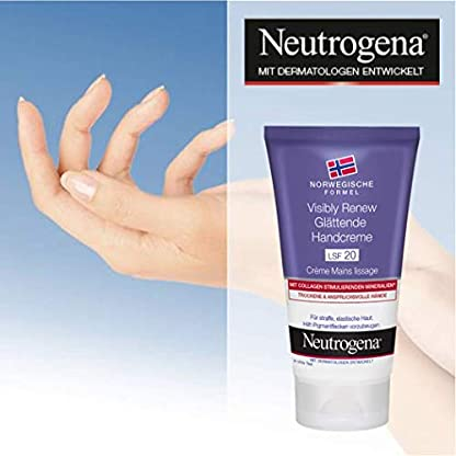 Neutrogena Renew Visiblemente Crema de Manos con FPS 20, 75 ml, 3-pack (3 x 0,075 l)