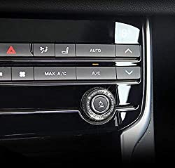 AUTO Pro für Jaguar F-Type F-PACE XE XF Audio Knopf Innendekoration Aufkleber Strass Deko Ring