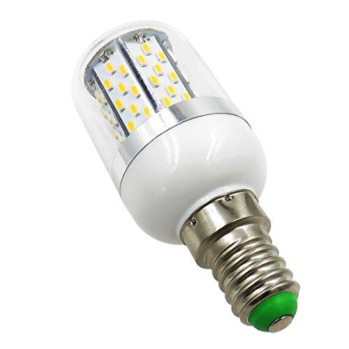 Aiyowei E145W lampadina LED 78–3014SMD AC85–265V a prova di esplosione candela luci mais con copertura bianca 6000K (confezione da 2)