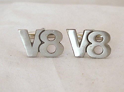 Boutons de Manchette V8 (avec Boîte à Cadeau)