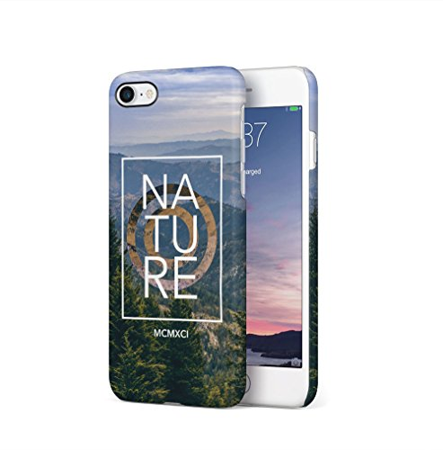 Nature Hills Forest Adventure Travel Apple iPhone 7 / iPhone 8 SnapOn Hard Plastic Phone Protective Fall Handyhülle Case Cover (Apple Hill)